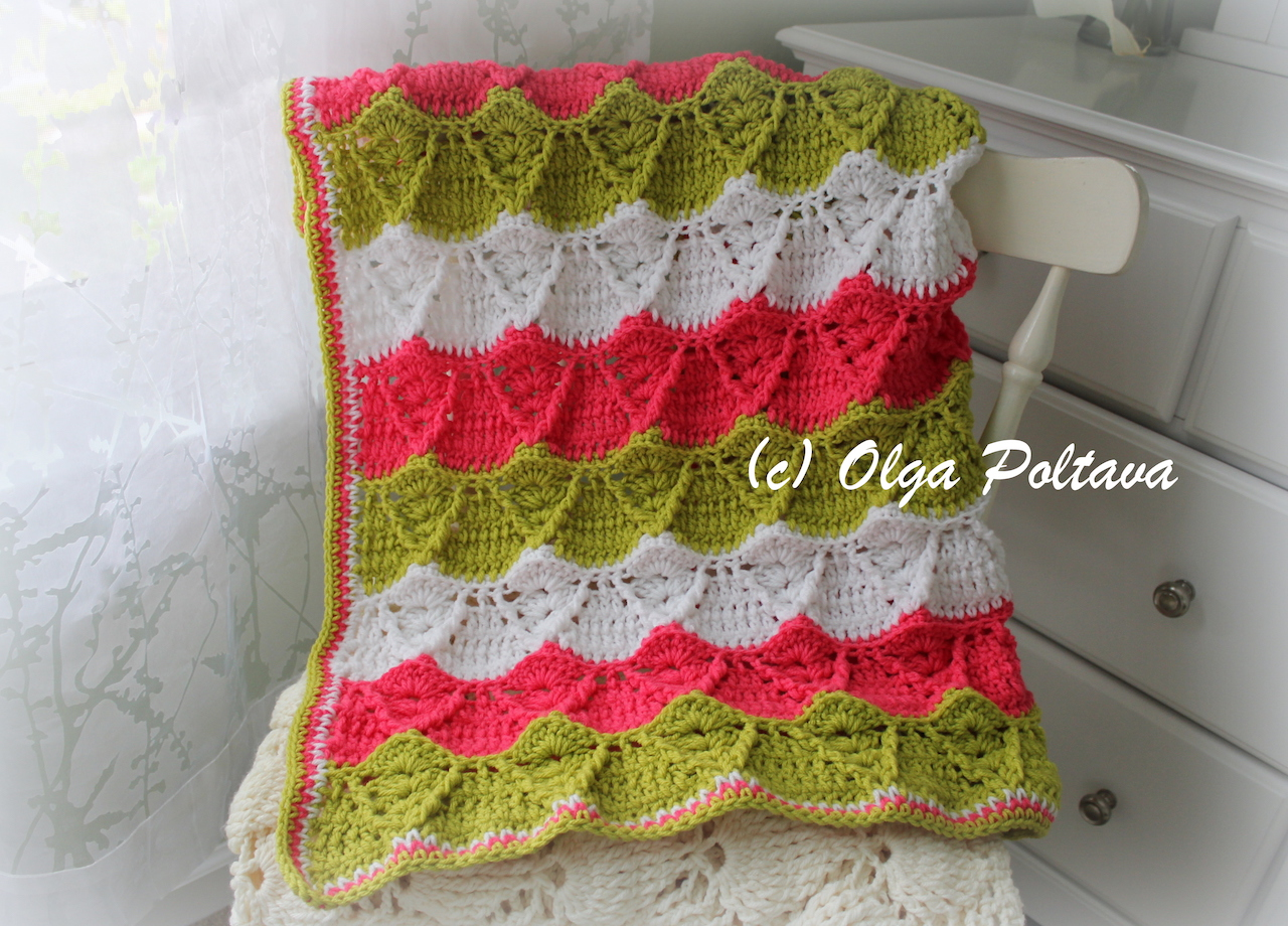 Lacy Crochet: Spring Stripes Afghan Blanket, Impeccable Yarn by ...