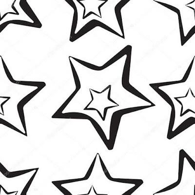 звезды трафарет