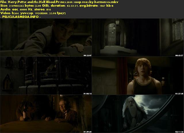 Descargar Harry Potter and the Half-Blood Prince Subtitulado por MEGA.