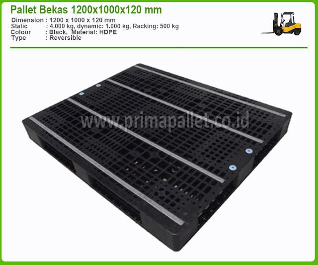 Pallet Plastik Bekas Ukuran 1200 x 1100 x 120 mm HDPE