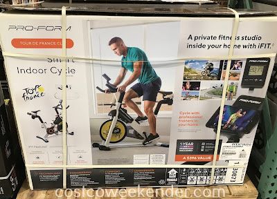 Work out or burn off those calories with the Pro-Form Tour de France CLC Smart Indoor Cycle
