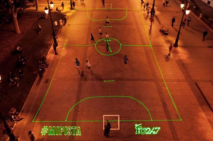 gelanggang futsal laser