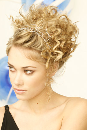 Stupendous Short Hair Styles Curly Updo Hairstyles Short Hairstyles Gunalazisus