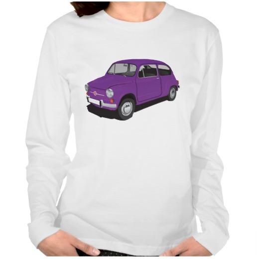 Lila Fiat 600 t-shirt