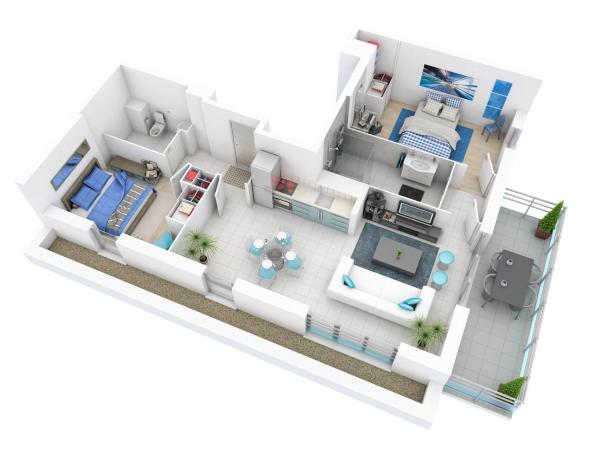 25 Kumpulan Denah Rumah Minimalis 3D