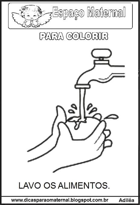 Atividades De Ciencias Desenhos Dos Habitos De Higiene Espaco
