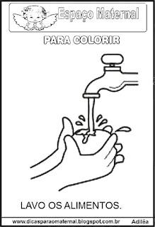 Desenho dos hábitos de higiene