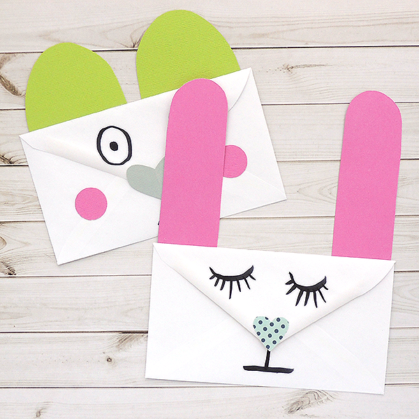 Create animal valentine's from envelopes - Creations Galore