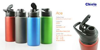 Ace Sport Tumbler, Jual Souvenir Tumbler ACE, Tumbler Promosi Ace Aluminium Bottle, botol tempat minum Tumbler Ace, ACE Alumunium Bottle ,botol minum unik dari Chielo dengan harga termurah di Tangerang