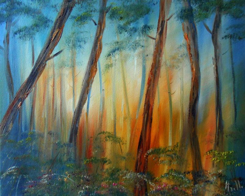 La Forêt de pins par Axelle Bosler