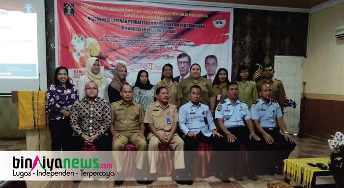 Kanwil Kemenkumham Maluku Gelar Sosialisasi Desiminasi Badan Hukum Perkumpulan