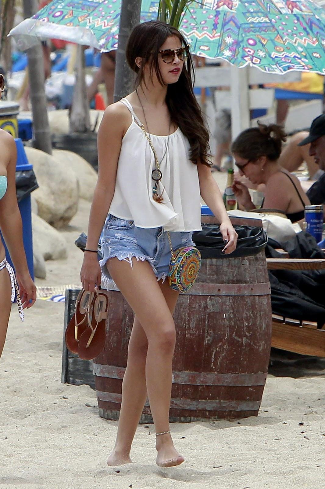 Selena Gomez At The Beach In Malibu  Just Fab Celebs-1308