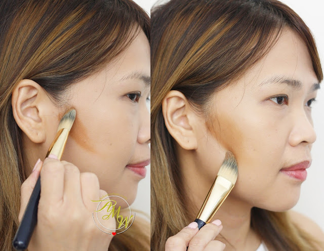 a photo on how to use How to Use NYX Cream Highlight & Contour Palette Medium