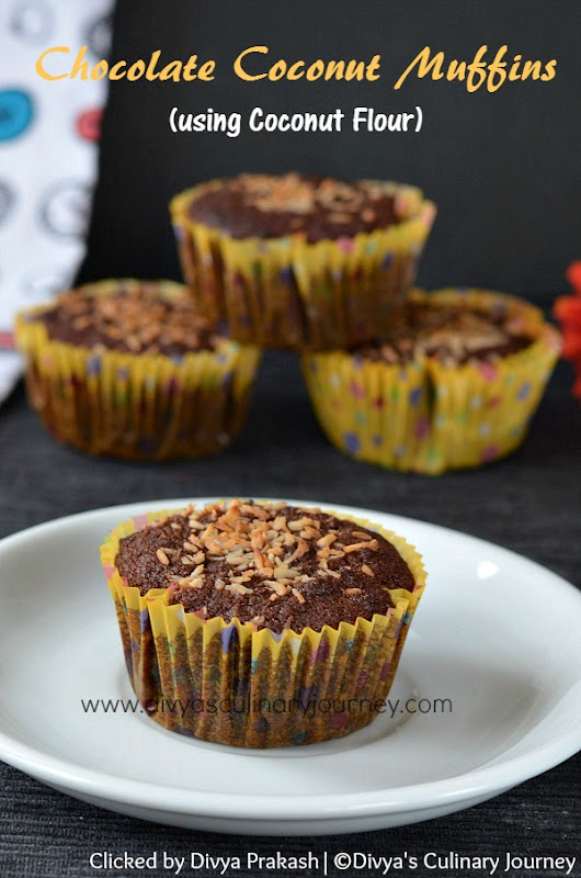 Chocolate Coconut Muffins (using Coconut Flour)