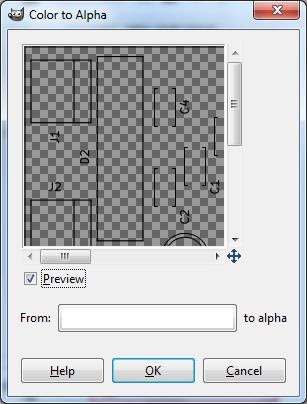 GIMP color to alpha