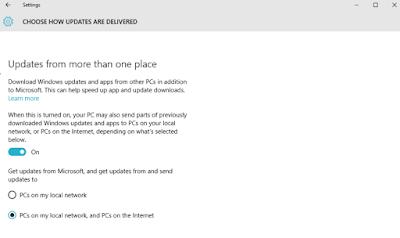 Matikan fitur peer to peer yang ada pada Windows 10 penting
