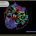 مخطط وصفي منزل كبير فيلا بسطح مفتوح وبشكل فاخر اوتوكاد dwg
