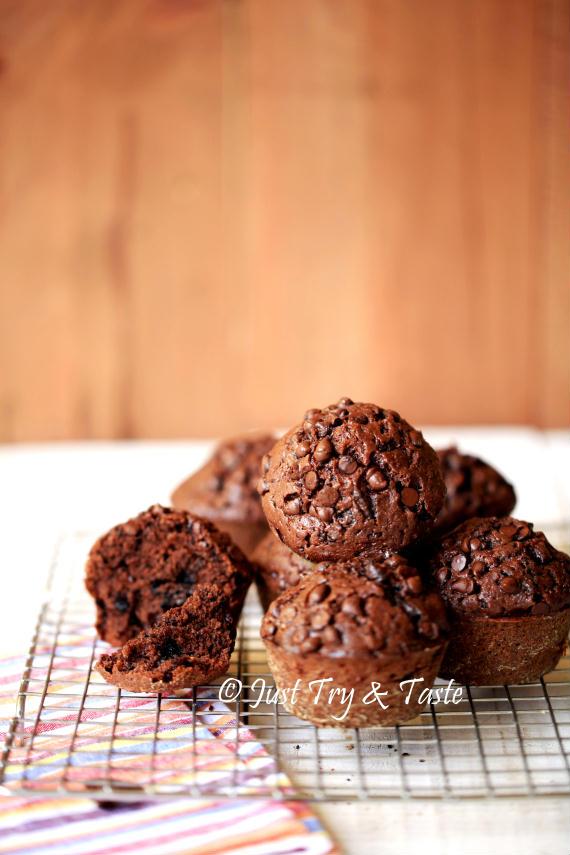 Muffin Coklat Super Nyoklat