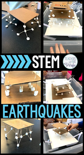 STEM Challenges for elementary students! Students will design and build a structure to withstand a simulated earthquake. Photos of ways to build the shake tray are included. Kids use only a few materials that are easy to gather for the teacher and will be fun for kids to use in your classroom. The building of the structure and then testing it on your shake tray are so much fun. This STEM resource includes detailed teacher directions, photos, lab sheets, and rubrics.