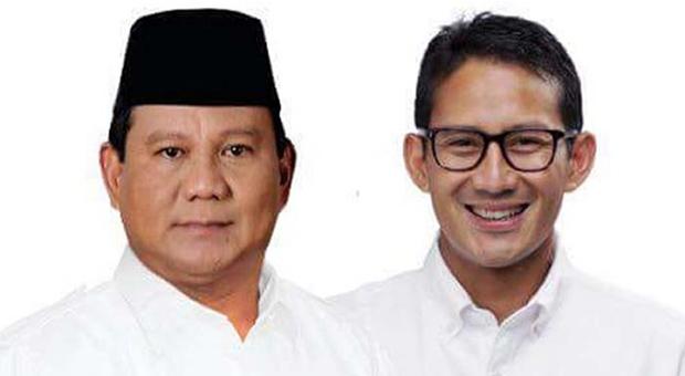 Survei Terbaru: Prabowo-Sandi Sudah Unggul di Atas 50 Persen