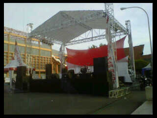 foto panggung rigging ukuran dan harga 4x4 m