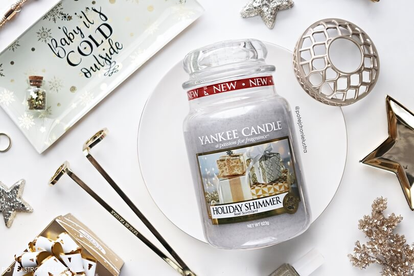recenzja yankee candle holiday shimmer blog