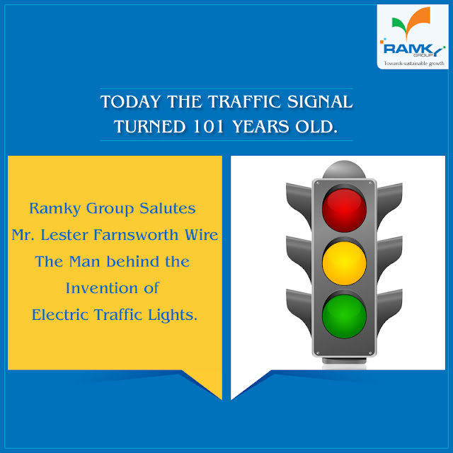 Today The Traffic Signal Turned 101years Old Ramky Group Salutes Mr Lester Farnsworth Wire Man Behind Invention Of Electric