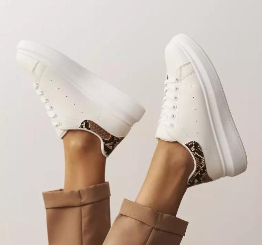 Sneakers dama Albi la moda cu talpa groasa foarte ieftini