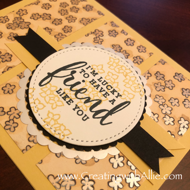 Check out the video tutorial showing you how to make a quick and easy card, where I show you tips and tricks for using Stampin Up's Share what you love suite!  You'll love how quick and easy this is to make!  www.creatingwithallie.com #stampinup #alejandragomez #creatingwithallie #videotutorial #cardmaking #papercrafts #handmadegreetingcards #fun #creativity #makeacard #sendacard #stampingisfun #sharewhatyoulove #handmadecards #friendshipcards