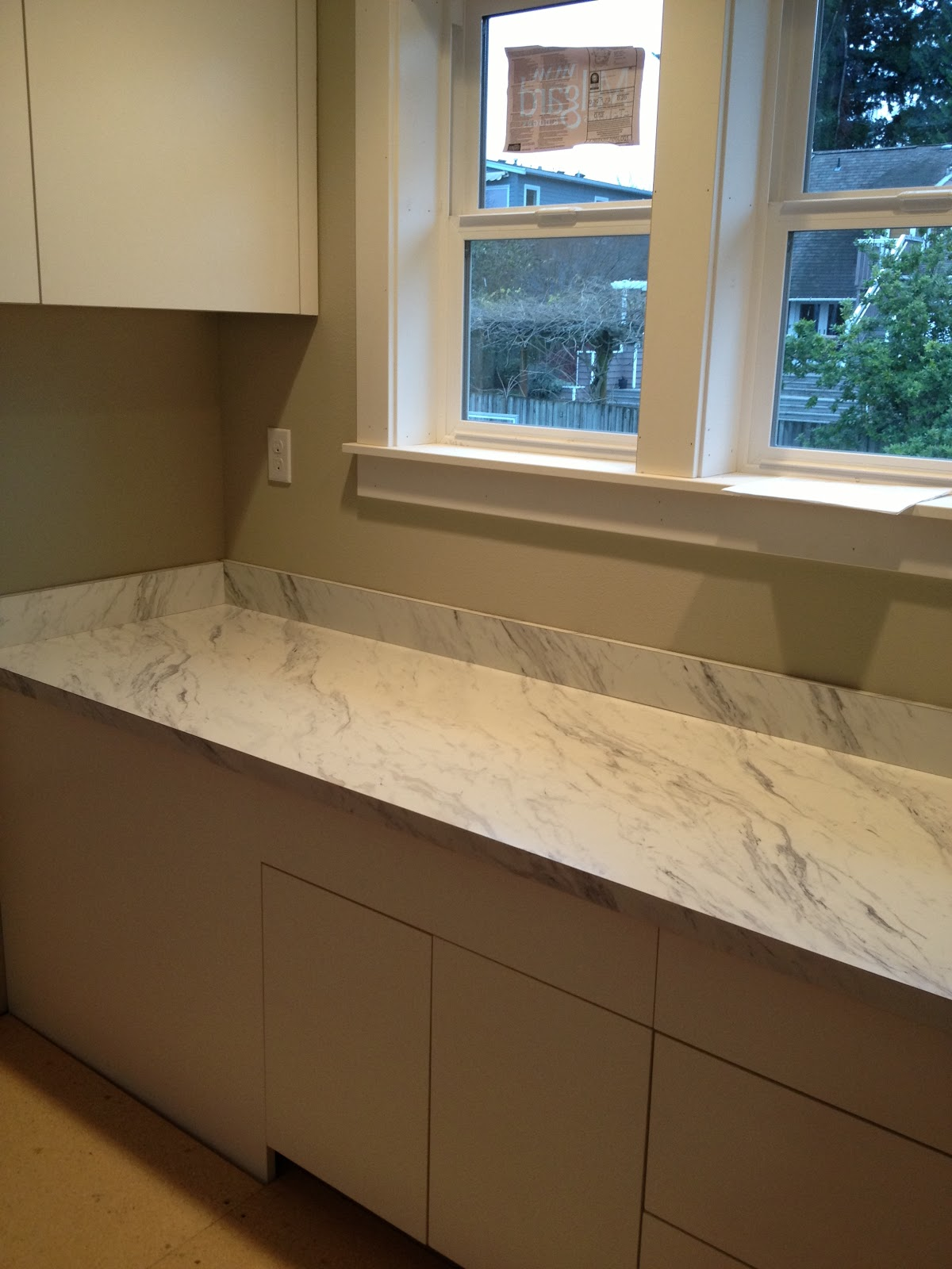 Calcutta Marble Laminate Countertop Building Our Dream Home From The Ground Up Progress