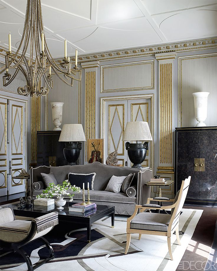 Eye For Design Decorating With The Gold And Grey Color Combination