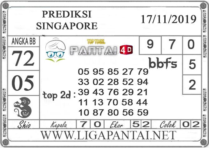 """PREDIKSI TOGEL """"SINGAPORE"""" PANTAI4D 17 NOVEMBER 2019"""