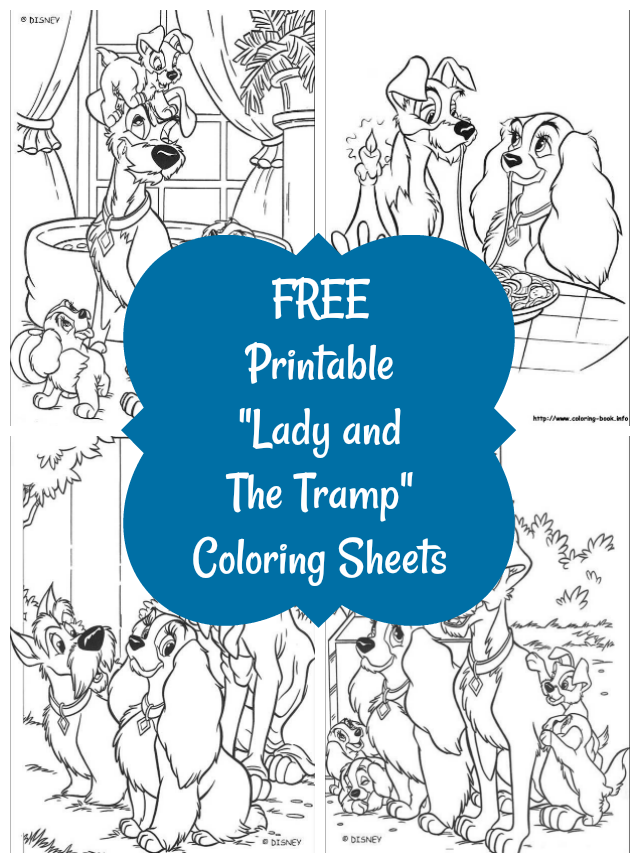 Nanny to Mommy: Lady and the Tramp Activities & Free Coloring Sheet ...