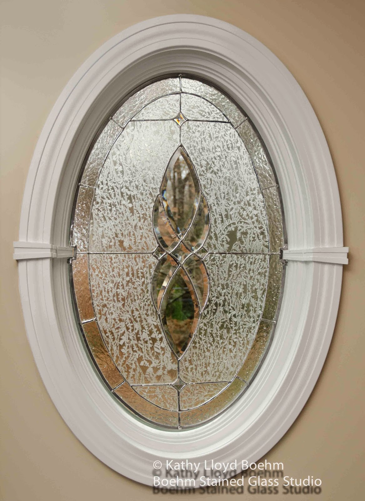 Boehm stained glass blog oval stained glass window with for 12 round window