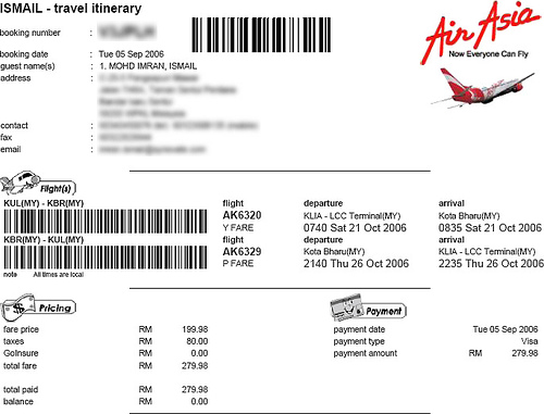 Asia Airline Tickets 105