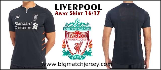 New Balance Liverpool FC 2016-17 Away Shirt