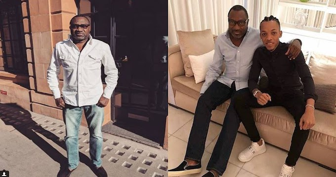 Femi Otedola Shares Adorable Photo With Tekno And Calls Him His Son