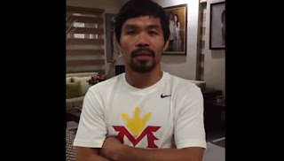 A screenshot from Manny Pacquiao's video.