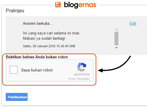 Cara Menampilkan Verifikasi Captcha Komentar di Blog