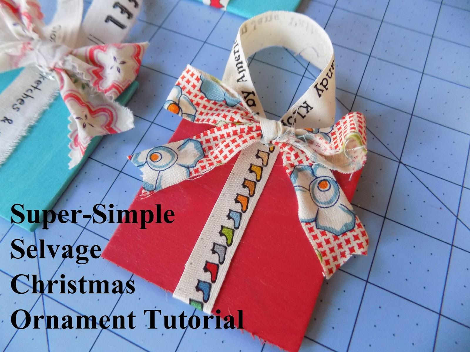 Sewn by Leila Gardunia: Super-Simple Selvage Christmas ...