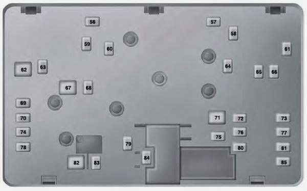 Fuse Box 2013 2014 Ford Fusion Fuse Panel Diagram