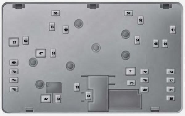 Fuse Box: 2013-2014 Ford Fusion Fuse Box Diagram