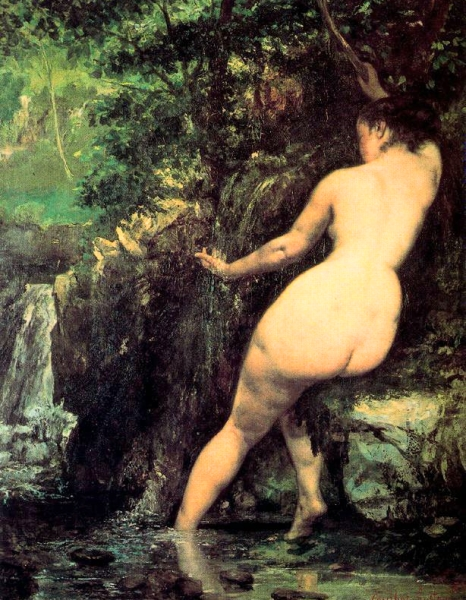 Banyista a la font (Gustave Courbet)