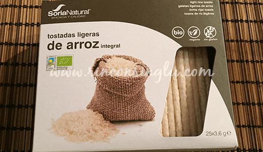 tostadas de arroz integral sin gluten