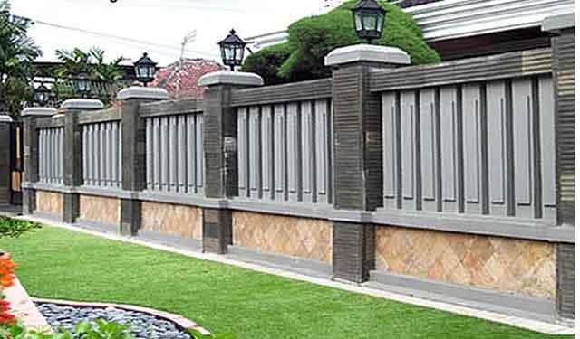 Desain Pagar Rumah Minimalis Radea