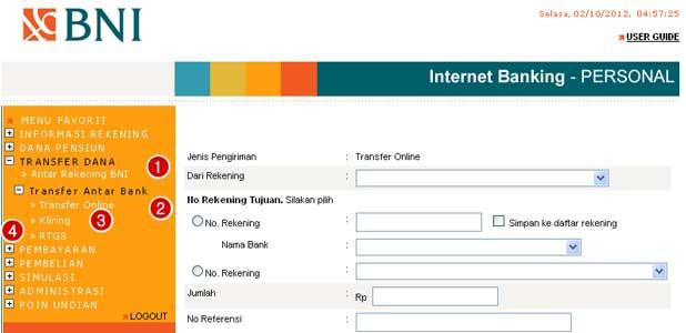 Daftar BNI Internet Banking