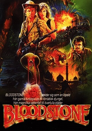 Poster Of Bloodstone 1988 Dual Audio 720p BRRip [Hindi - English] Free Download Watch Online