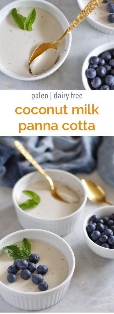 Coconut Milk Panna Cotta with Orange and Mint