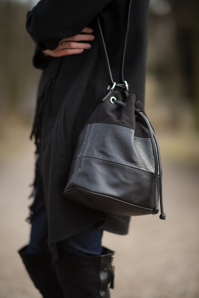 torba worek z frędzlami H&M