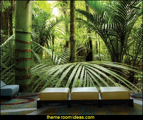 Rainforest full wall size mural